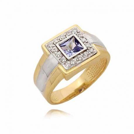 Złoty pierścionek PB65