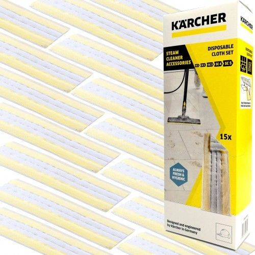 15 Jednorazowych Ściereczek EasyFix do Parownic SC Karcher