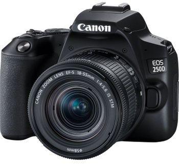 Aparat Canon EOS 250D (czarny) + EF-S 18-55mm f/4-5.6 IS STM Powerbank Xtorm gratis