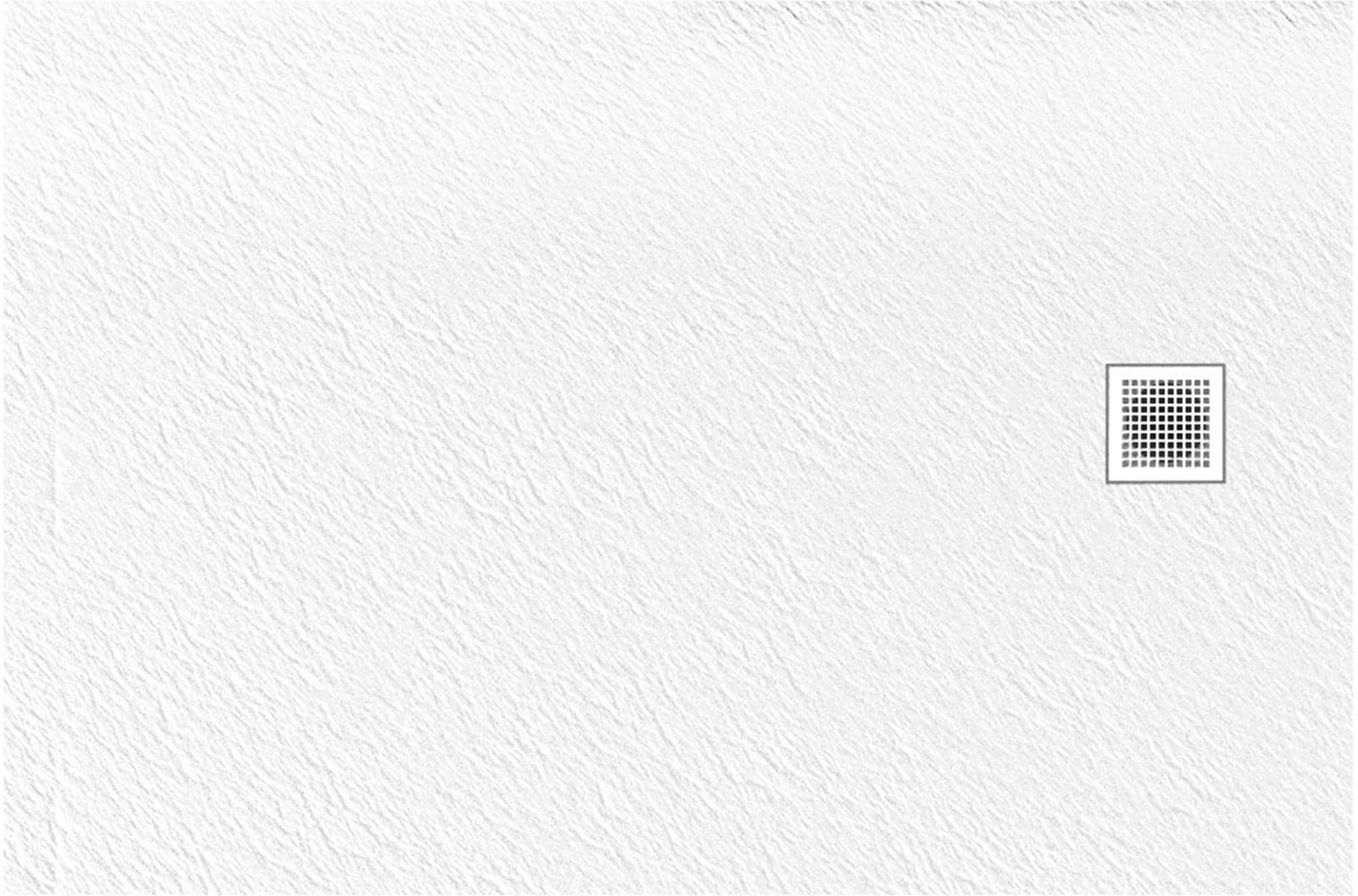 New Trendy Brodzik MORI prostokątny, konglomerat 140x80x3cm biały B-0431
