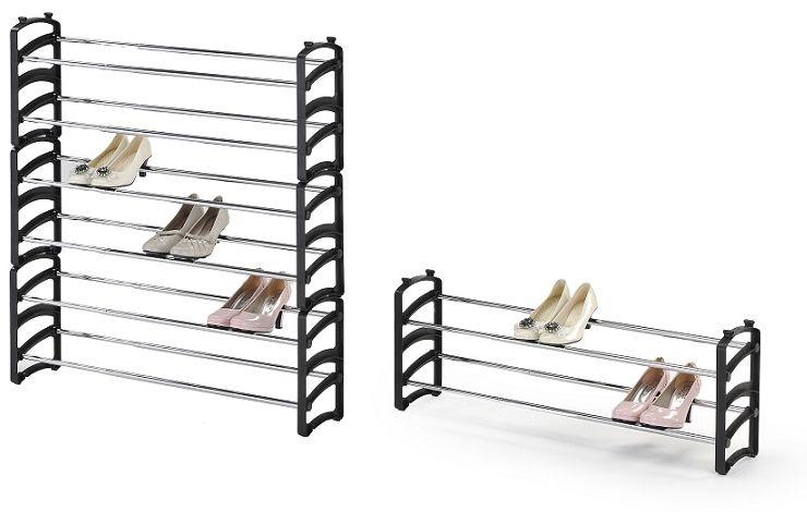 Stojak na buty SANTOS 62-115x18x33 czarny