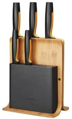 Zestaw noży FISKARS Functional Form w bloku bambusowym 1057552 (5 noży). > DARMOWA DOSTAWA ODBIÓR W 29 MIN DOGODNE RATY