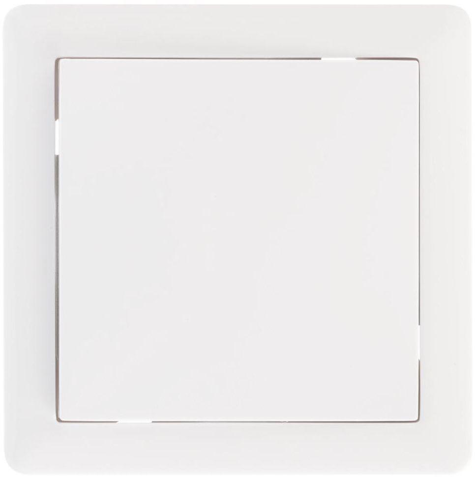 Włącznik pojedynczy KRZYŻOWY SLIM Biały LEXMAN