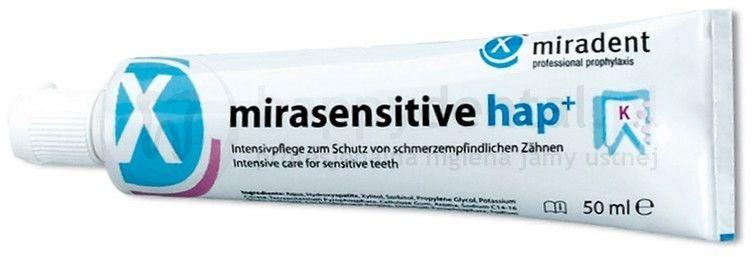 MIRADENT Mirasensitive hap+ 50ml - pasta do intensywnej terapii ochronnej wrażliwych zębów