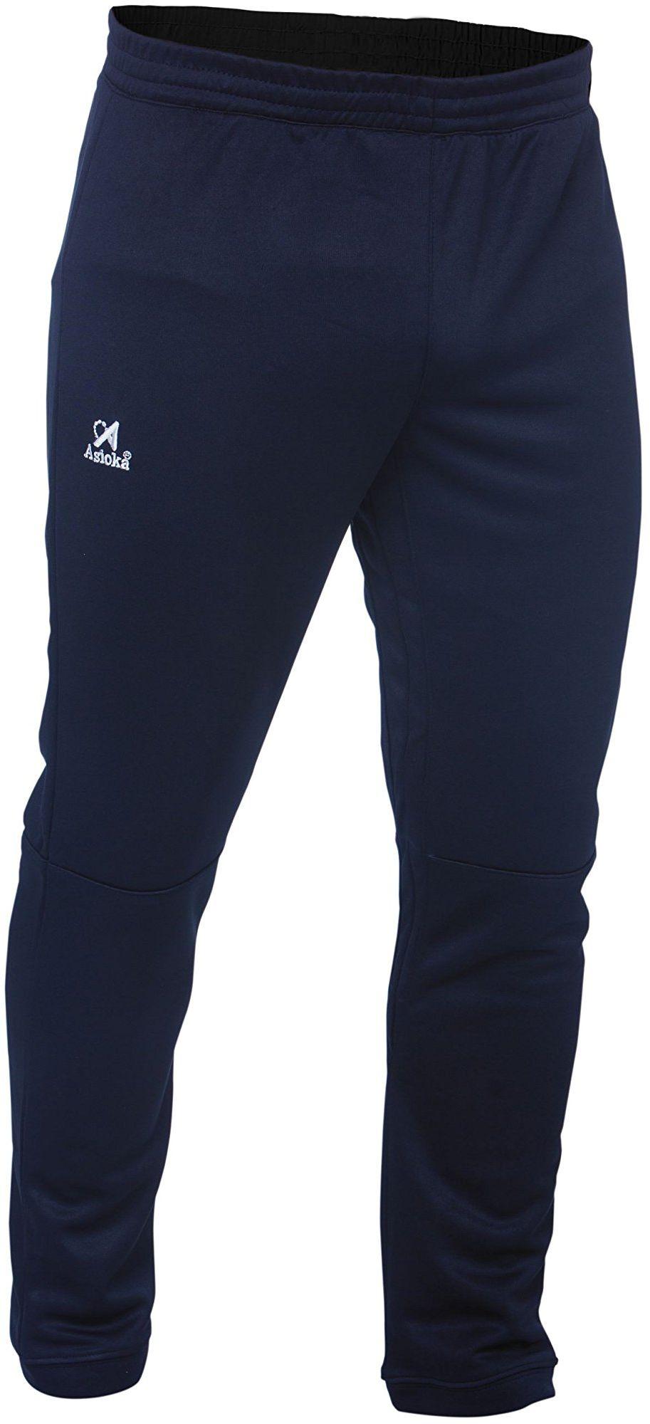 Asioka Unisex dziecięce spodnie do biegania 189/17n biały niebieski morski 4-6/5XS