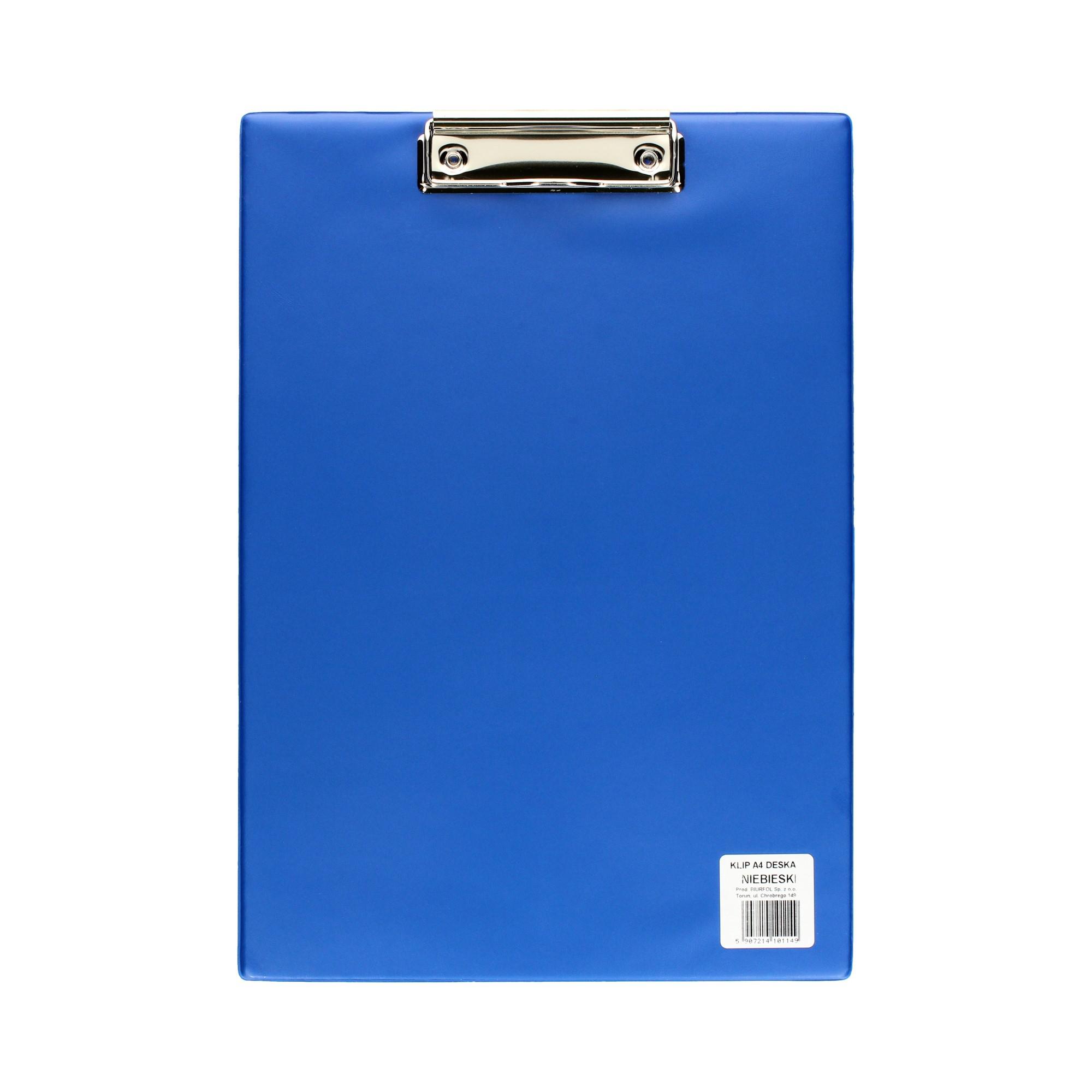 Deska klip A4 niebieska Biurfol