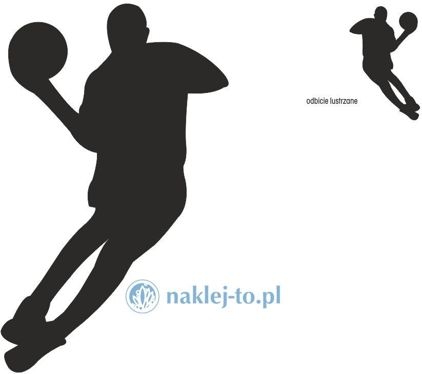 naklejka koszykarz 3 naklejka na ścianę