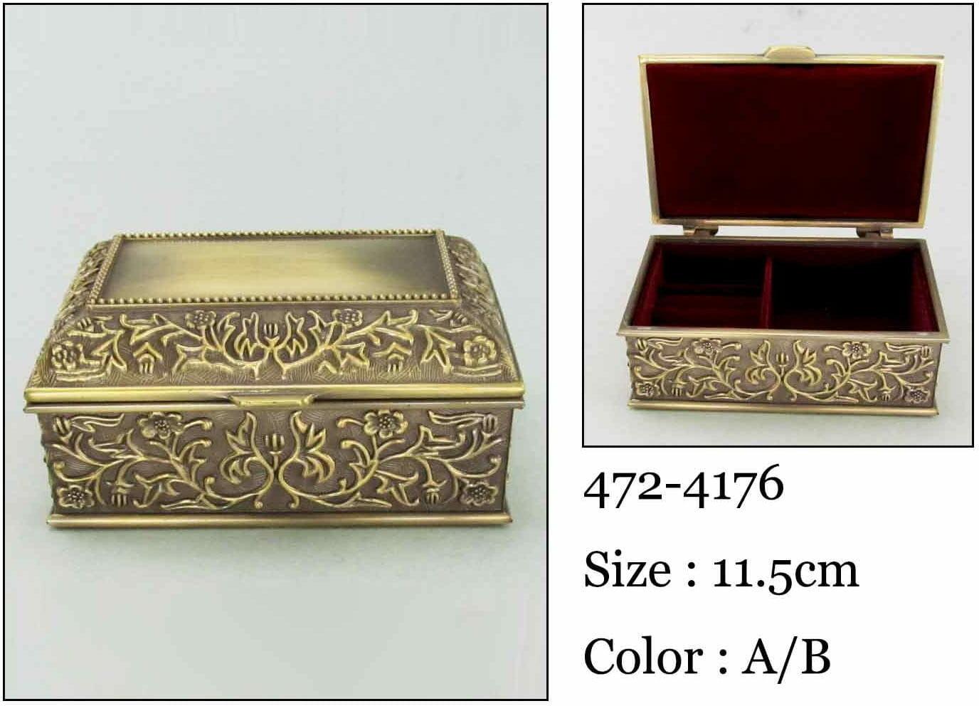 Kasetka, stare złoto, 11,5x7 cm