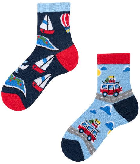 Adventure Kids, Todo Socks, Podróże, Pojazdy, Kolorowe Skarpetki Dziecięce
