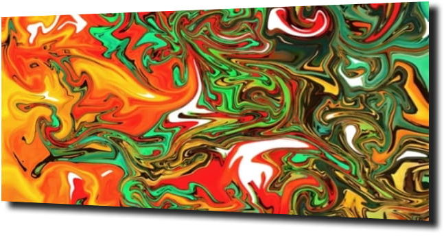 obraz na szkle Abstrakcja zielona