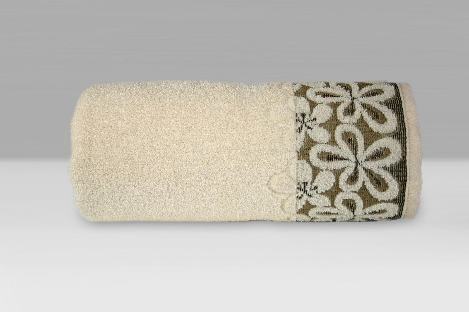 Ręcznik bawełniany Greno Bella Kremowy
