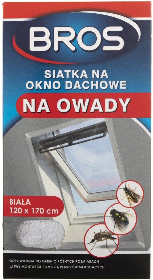 Bros Siatka na okno dachowe biała 120 x 170 cm