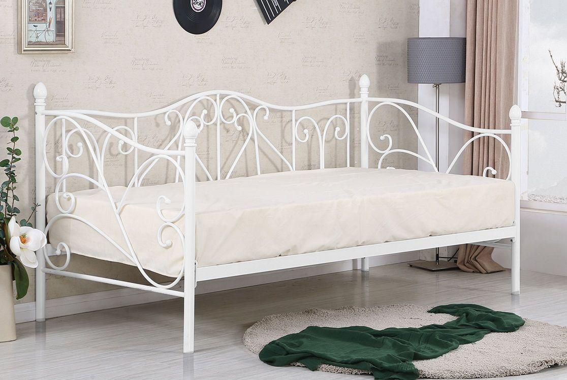 Łóżko metalowe BORA 90 biały