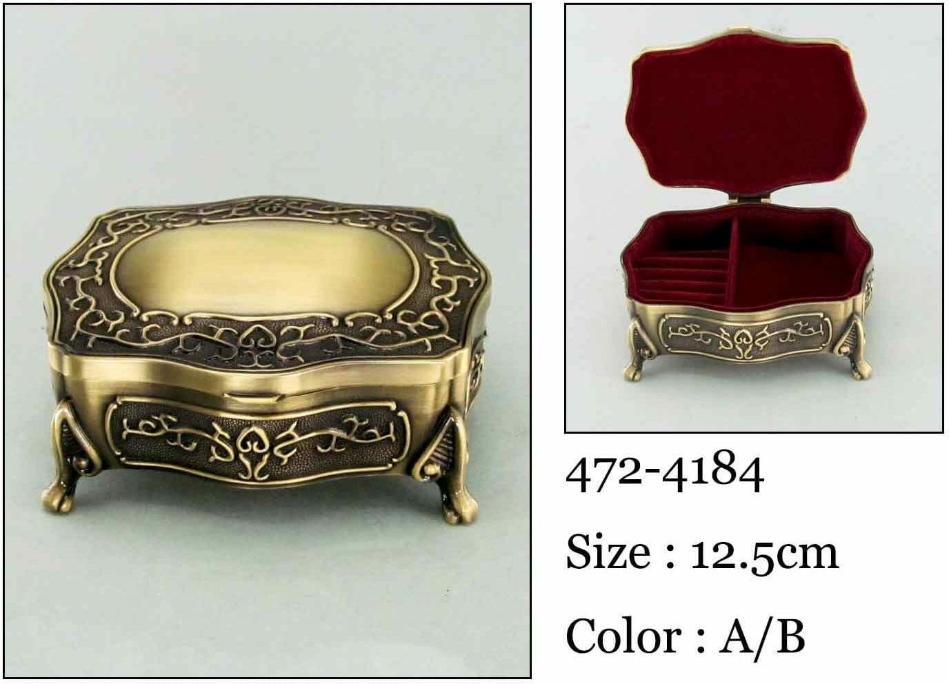 Kasetka, stare złoto, 12x9,5 cm