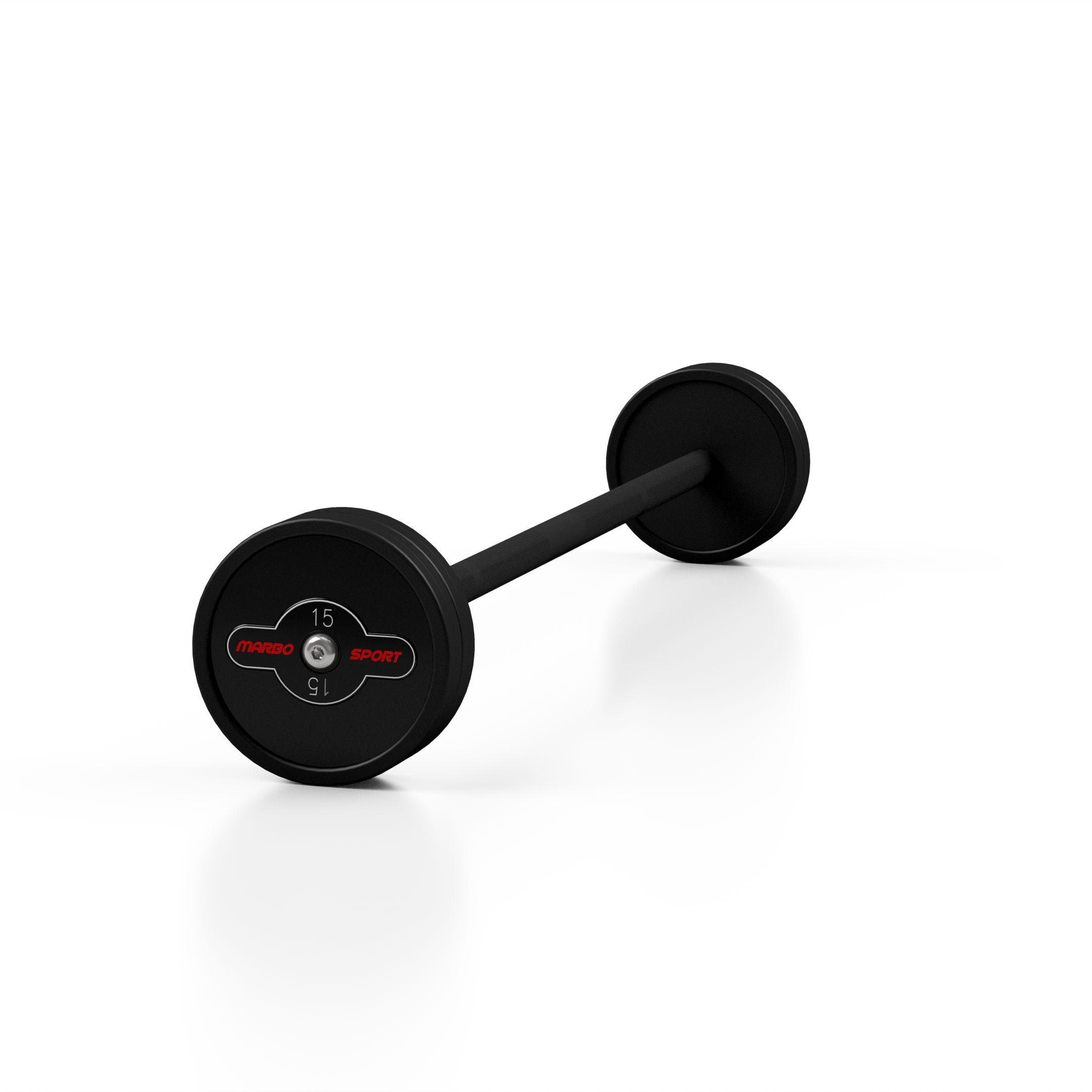 Sztanga gumowana prosta 15 kg czarny mat - Marbo Sport - 15 kg