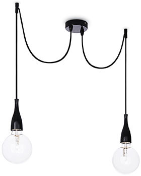 Lampa wisząca Minimal SP2 112671 Ideal Lux czarna oprawa w minimalistycznym stylu