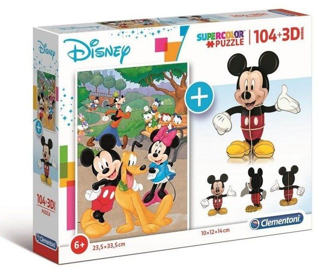 Puzzle 104 3D model Mickey Mouse