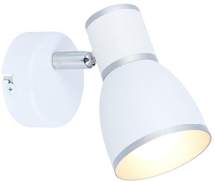 FIDO LAMPA KINKIET 1X40W E14 BIAŁY+CHROM