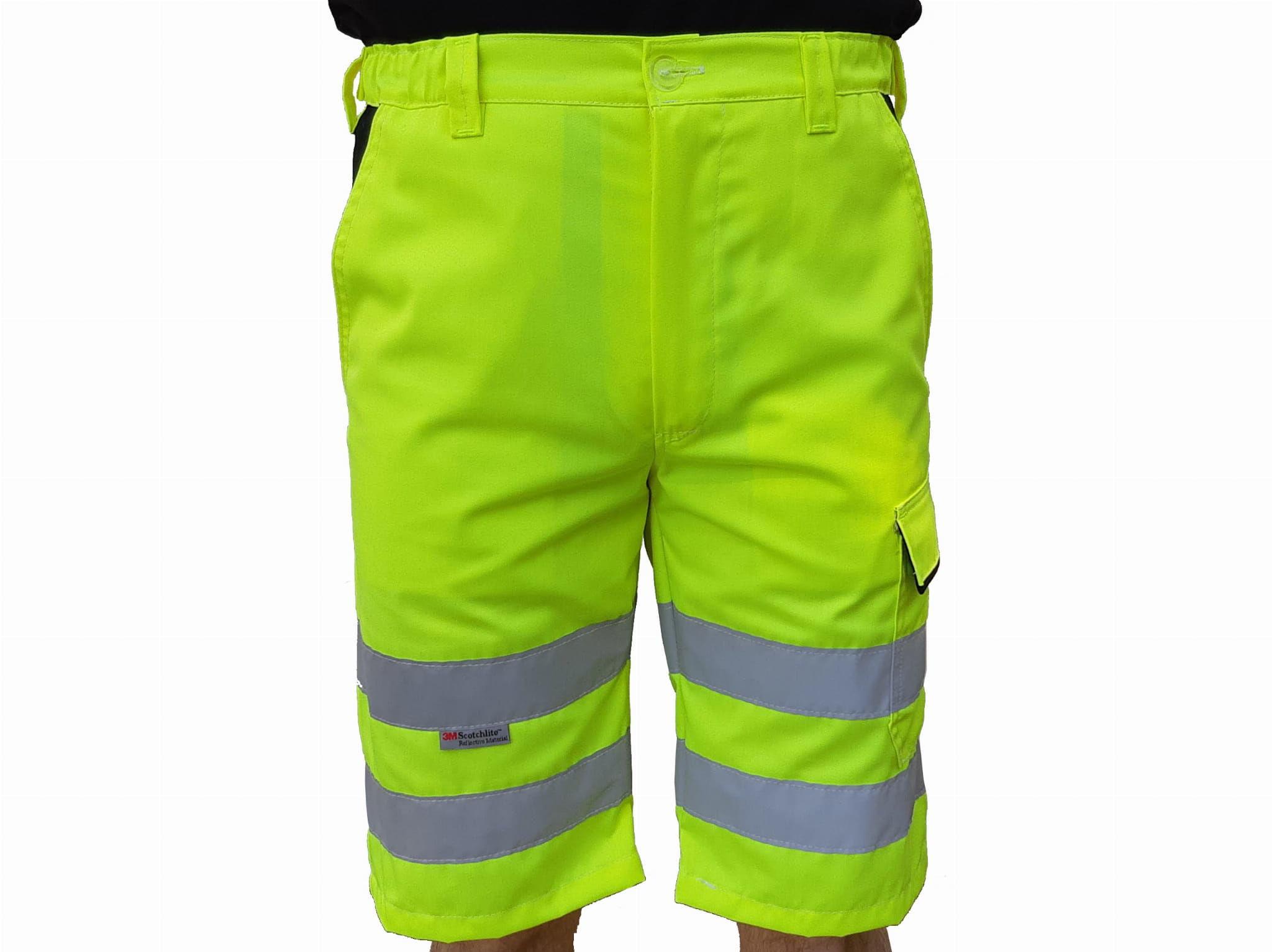 Spodnie robocze krótkie odblaskowe
