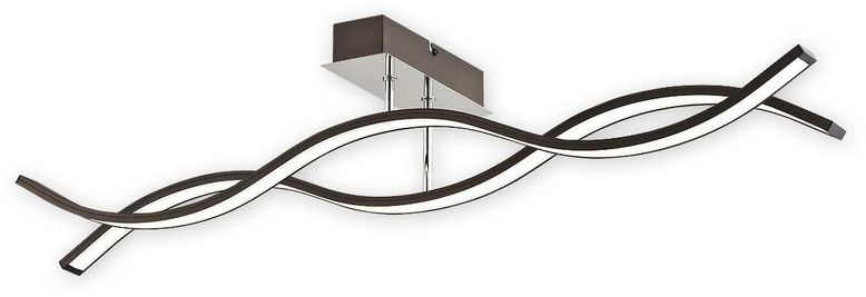 Linea LED plafon długi 2 pł. / rdza wenge + chrom