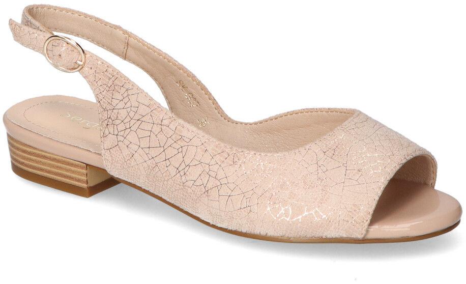 Różowe Sandały Sergio Leone Na Delikatnym Obcasie Sergio Leone SK807 Różowe