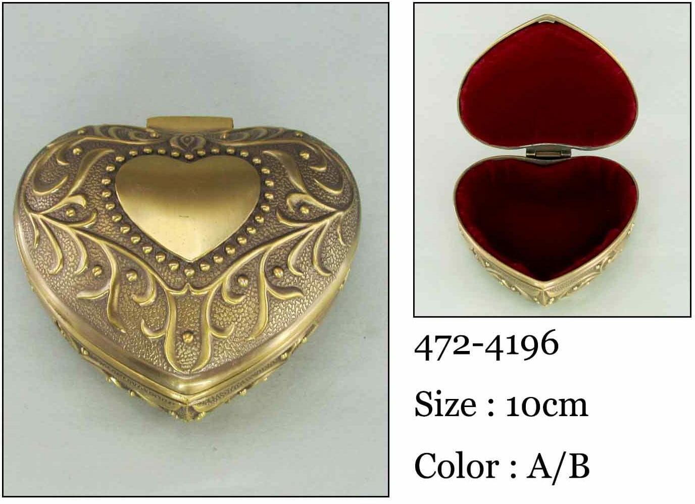 Kasetka, stare złoto, 9x9 cm