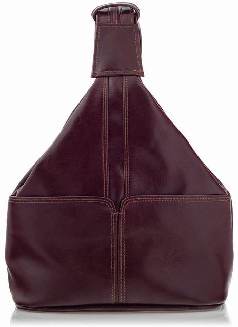 Plecak Skórzany na Ramię Bordo Telimene RL25