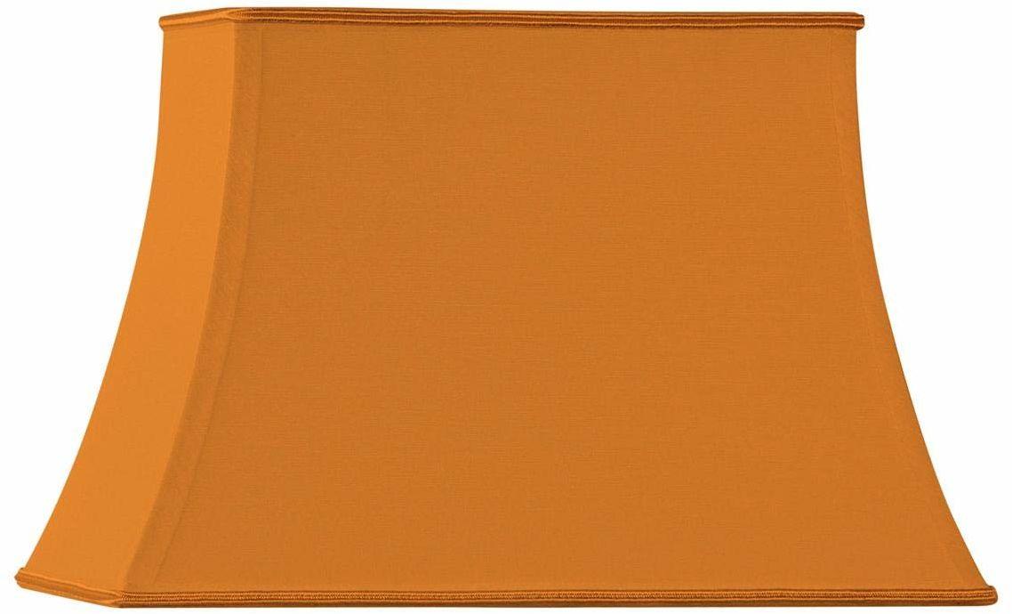 Klosz lampy w kształcie pagody, prostokątny, 25 x 15/18 x 10/17 cm, pomarańczowy