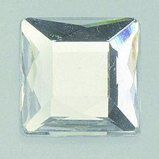 EFCO Dekoracyjny kamień akrylowy fasetowy zestaw kwadratowy 6x6 / 8x8 / 10x10 / 12x12 mm 30/10/10/2 szt. kryształ, 20x10x2 cm