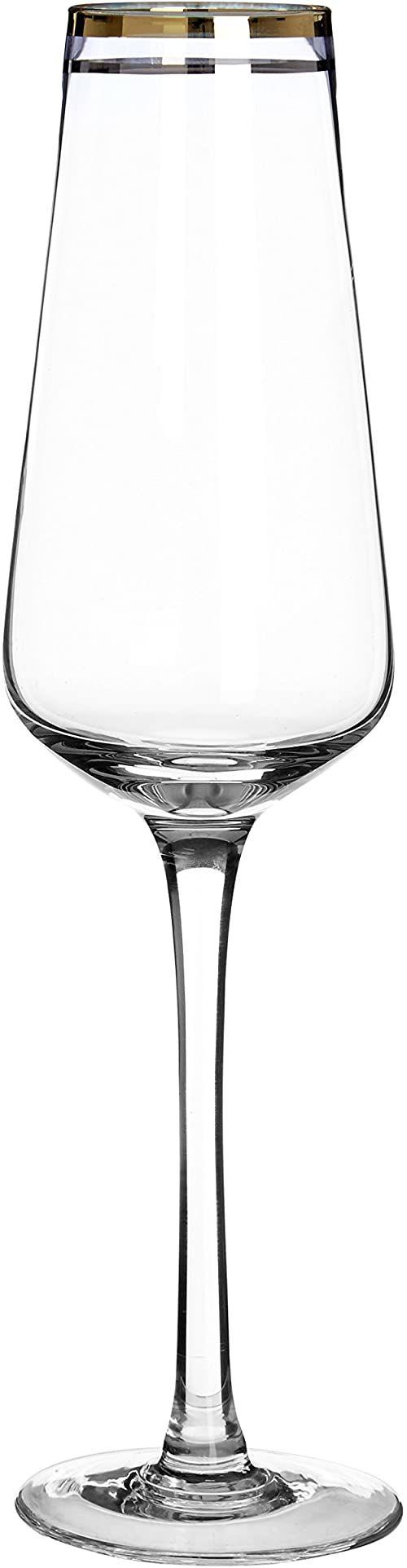 Premier Housewares Szkło koktajlowe eleganckie szkło przezroczyste szkło rumowe złoto marargarita zestaw 4 kieliszków do picia, szklanki do martini 25 x 7 x 7 cm