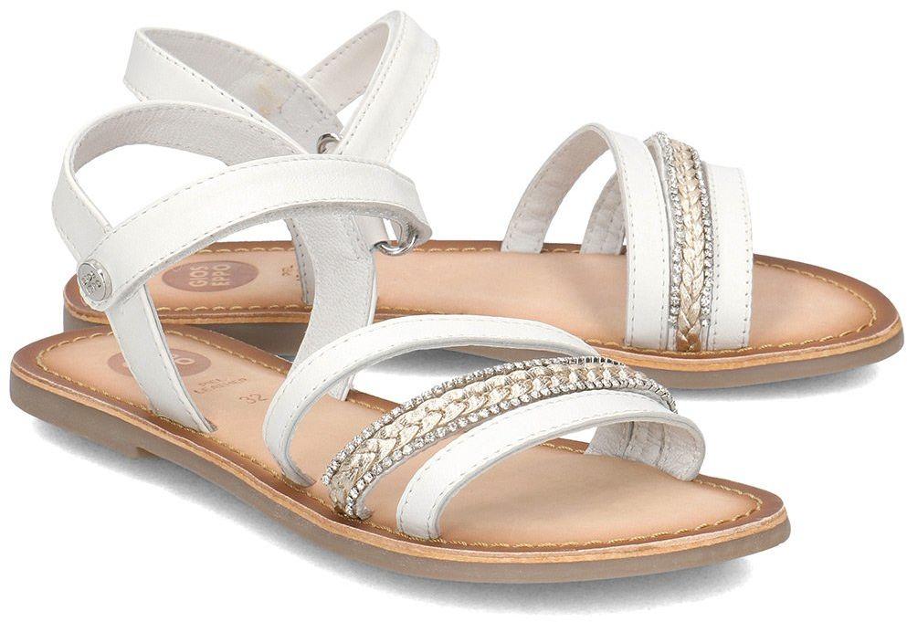 Gioseppo - Sandały Dziecięce - DERUSA 48613 WHITE - Biały