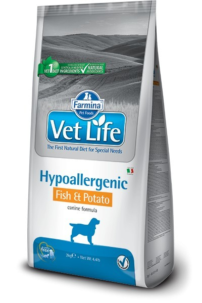 FARMINA Vet Life Hipo Fish & Potato 2 kg Dog