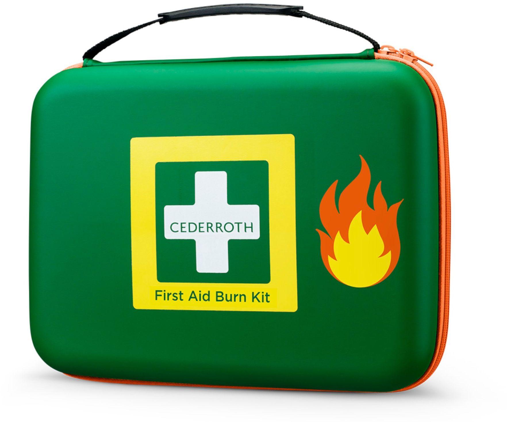 NOWOŚĆ Zestaw na oparzenia Cederroth First Aid Burn Kit - straż pożarna