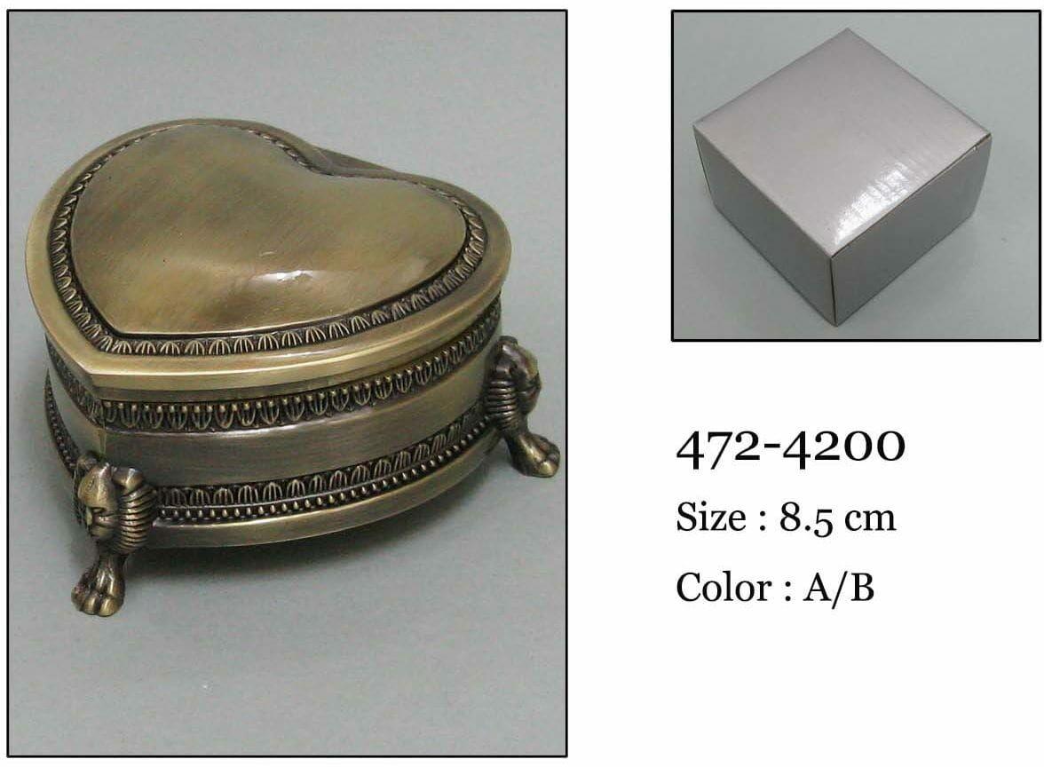Kasetka, stare złoto, 8,5x8