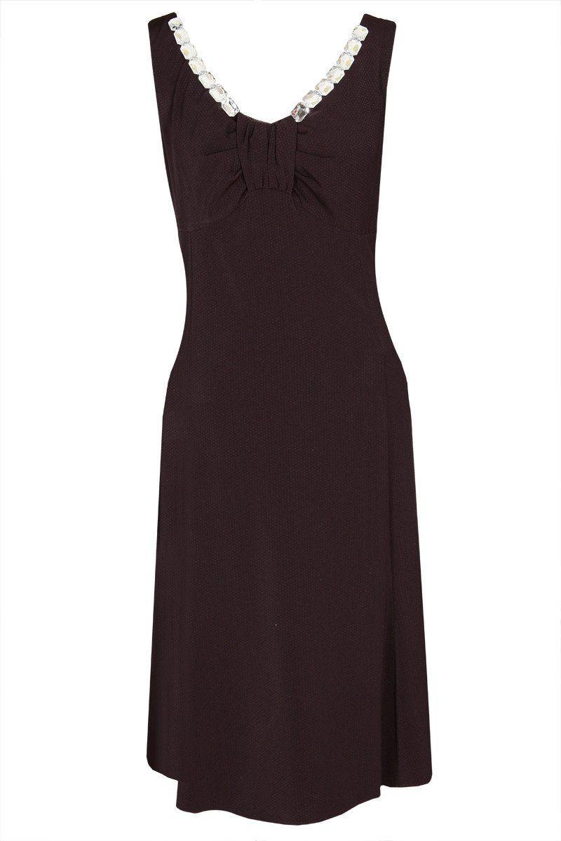 Sukienka FSU1033 BORDOWY