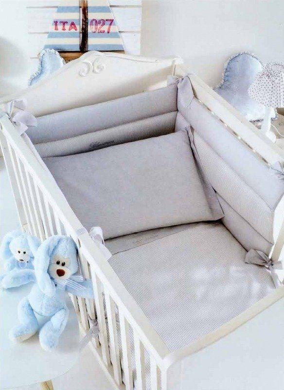 Komplet pościeli dziecięcej do łóżeczka Blumarine Marina Beige