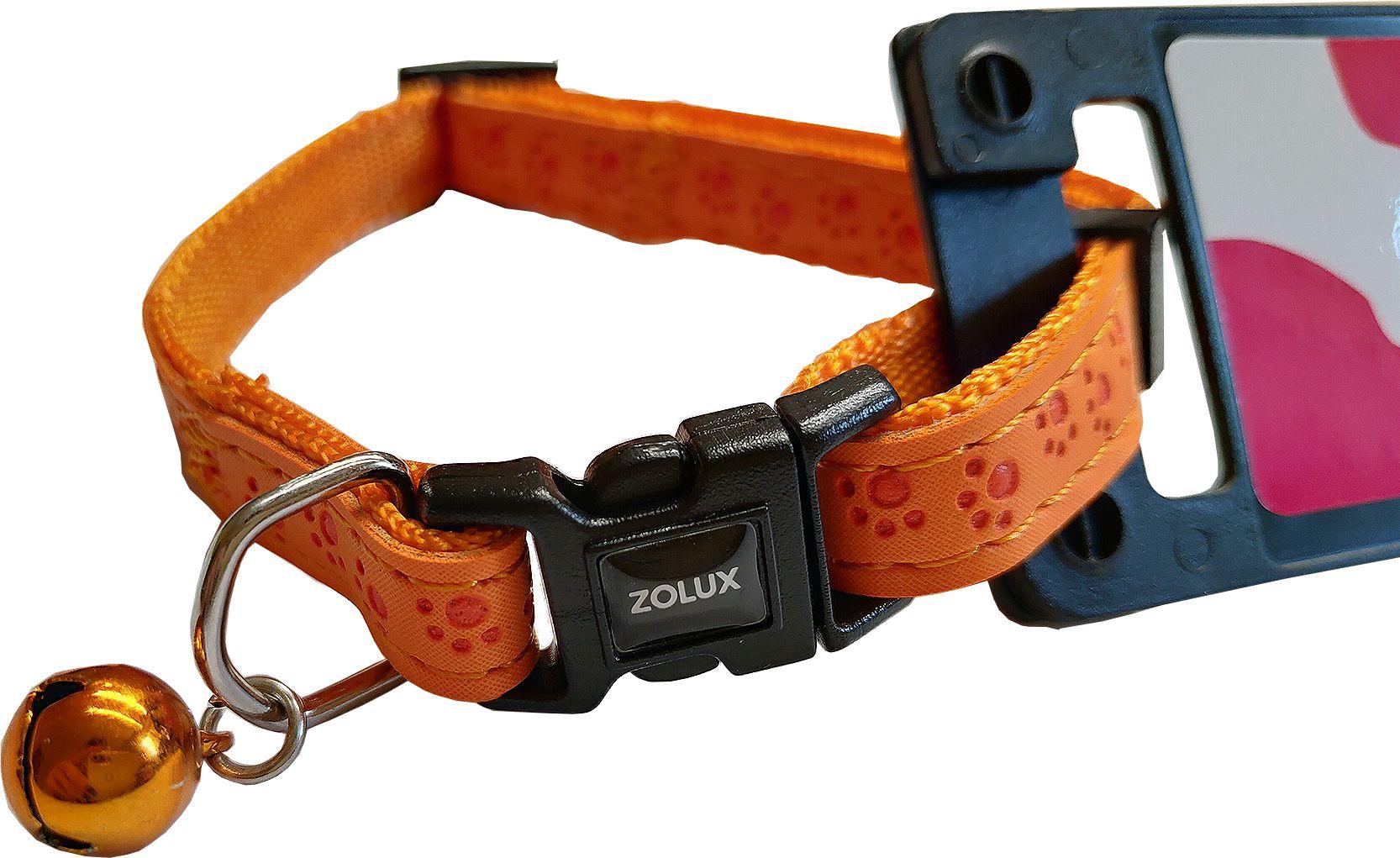 Zolux Obroża regulowana Mac Leather dla kota 10 mm kol. pomarańczowy