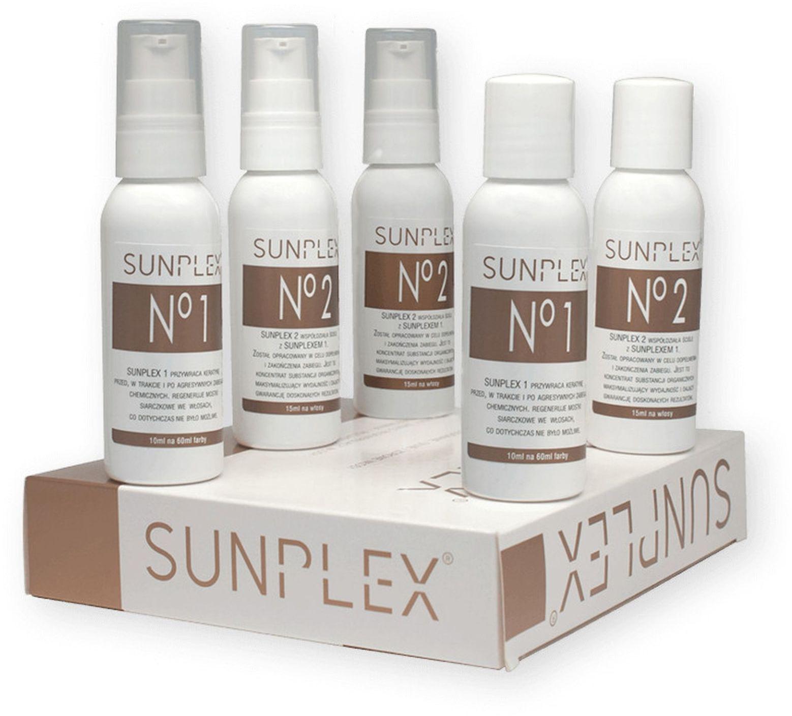 Kuracja regenerująca do włosów - Sunplex - 5x50ml - 10 Zabiegów