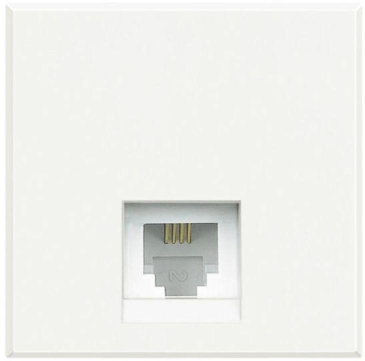 AXOLUTE Gniazdo telefoniczne pojedyncze RJ11 białe HD4258C11D