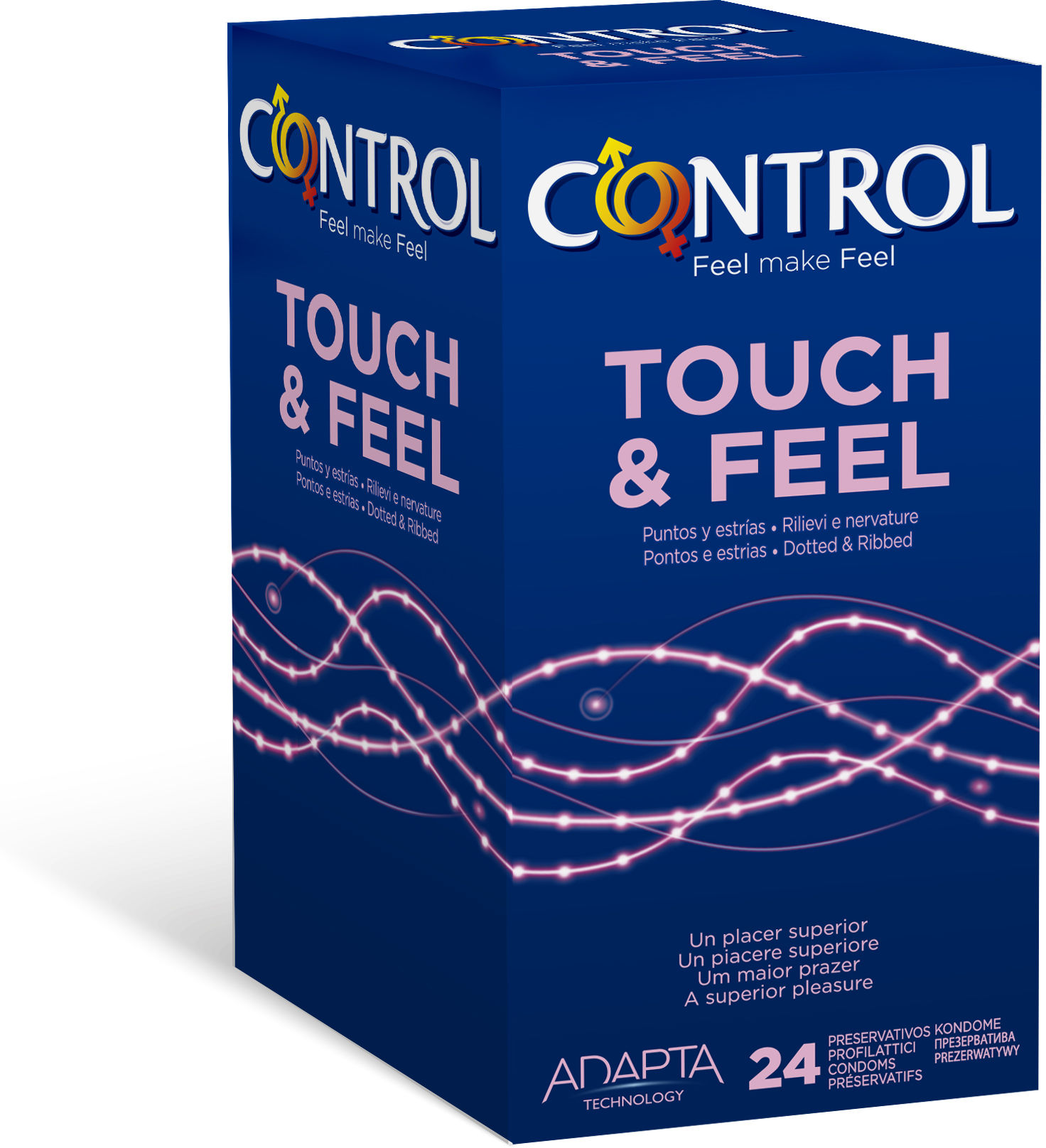 Control Touch & Feel 24 stymulujące prezerwatywy