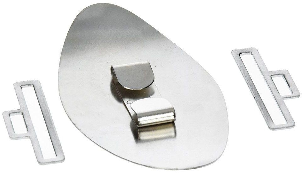 EFCO - 94 x 45 mm owalna rura zamknięcie paska na pasek o szerokości 40 mm, srebrne