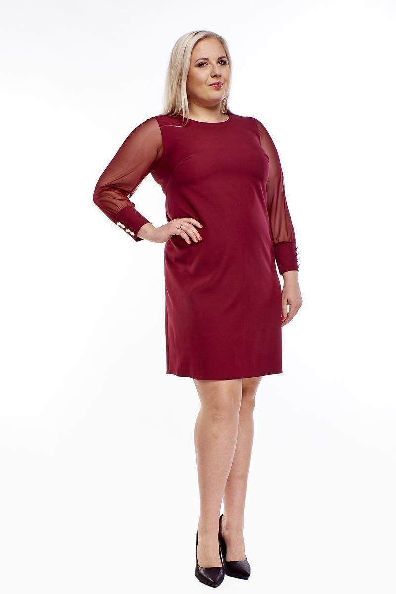 Sukienka FSU1029 BORDOWY