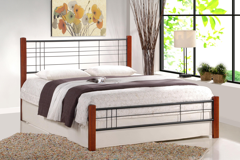 Łóżko SAMARA 160 czarny-czereśnia antyczna