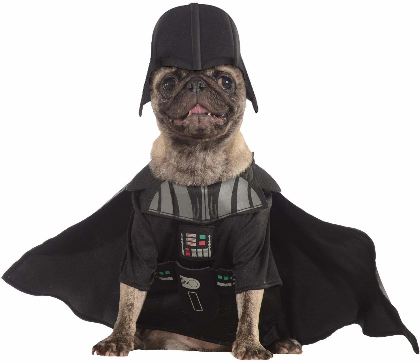 Rubie''s Oficjalna kostium Darth Vader pies wyszukana sukienka Gwiezdne Wojny Ciemna Strona Złota Łotwa Szczeniak Zwierzę domowe Mały Szyja do ogona 28 cm Klatka piersiowa 3