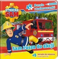 Strażak Sam Puzzle i kolorowanki Sam rusza na akcję - opracowanie zbiorowe