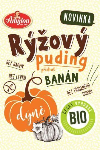 Budyń ryżowy o smaku bananowym z dynią bezglutenowy BIO 40 g Amylon