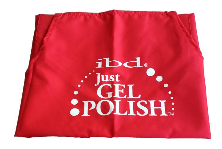 IBD Fartuszek kosmetyczny Just Gel Polish czerwony