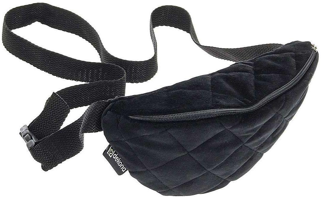 Saszetka- nerka Velvet, głęboka czerń, 22 x 13 x 6 cm, Velvet