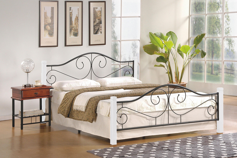 Łóżko LEMI 160 czarny-biały