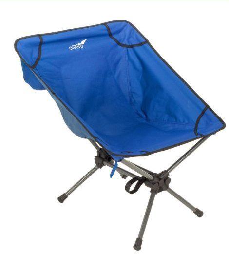 Krzesło kempingowe, niebieskie